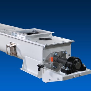 Heavy Duty Screw Conveyors for Conveying Calcinated Gypsum - KWS Manufacturing