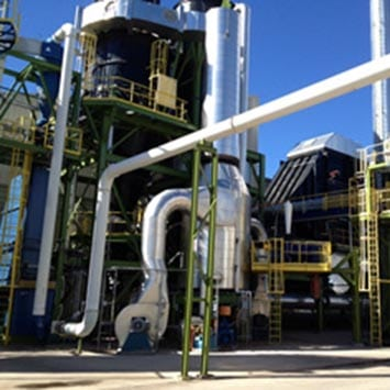 Stainless Steel Screw Feeder to Meter Biomass to High Temperature Reactor - KWS Manufacturing