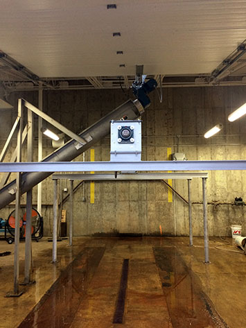 Biosolids Load Out Screw Conveyor for Oakmont Water Authority in Allegheny County, PA - KWS