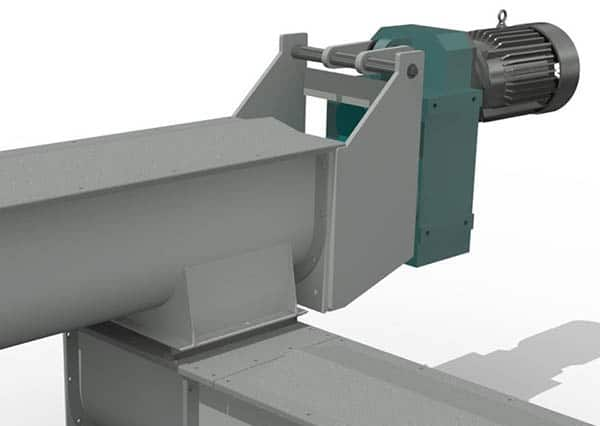 Shaftless Screw Conveyor Loadout System for Carrot Pomace - KWS