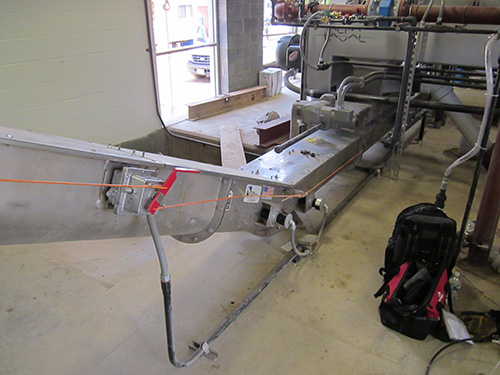 Ceramic Lined Sludge Conveyors for Lewiston WWTP in Lewistown, PA - KWS Manufacturing