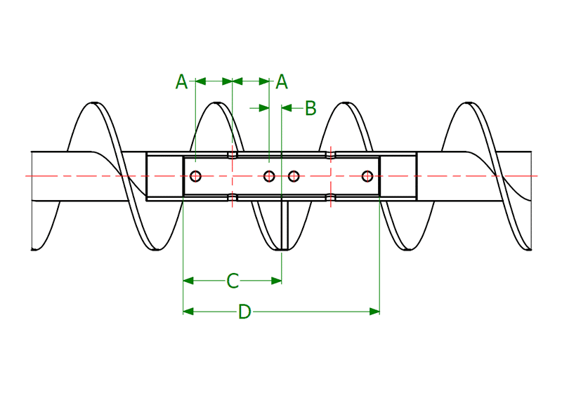 Dimensional Drawing for 3-Bolt Close Coupling Shafts