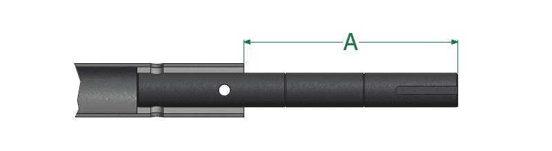 Dimensional Drawing for 2-Bolt Drive Shafts