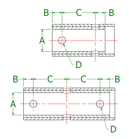 Dimensional Drawing for Internal Collars